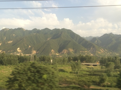 Mountains on way to Beijing